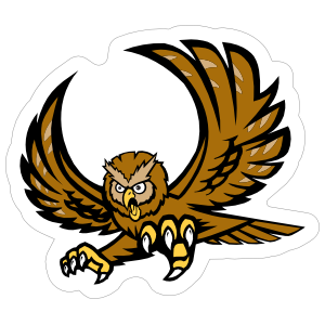 Owl Mascot Sticker