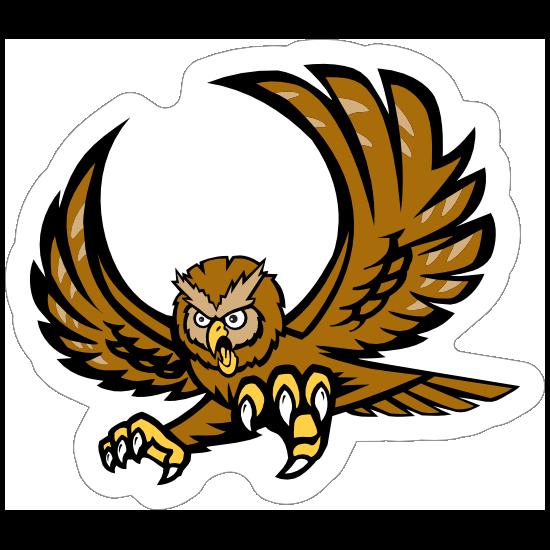 Owl Mascot Sticker