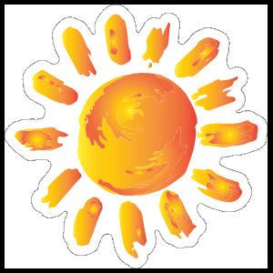 Painted Sun Sticker