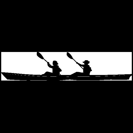 Pair Of Female Rowers Sticker