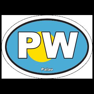 Palau Flag Oval Sticker