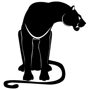 Growling Panther Sitting Sticker