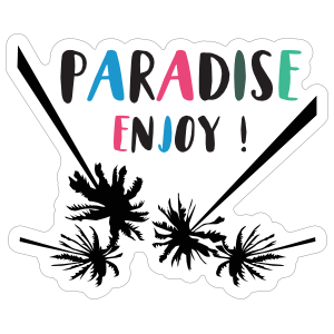 Paradise Enjoy Summer Sticker