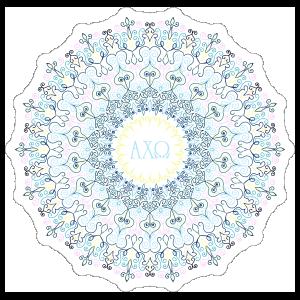 Pastel Alpha Chi Omega Mandala Sticker
