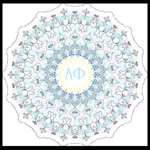 Pastel Alpha Phi Mandala Sticker v3