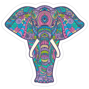Pastel Elephant Boho Sticker