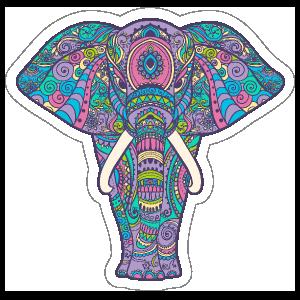 Pastel Elephant Boho Sticker