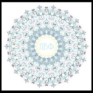 Pastel Pi Beta Phi Mandala Sticker