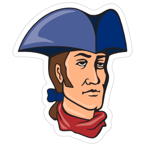 Patriot Mascot Sticker