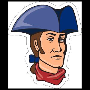 Patriot Mascot Sticker