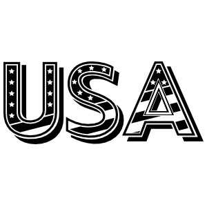 Patriotic Usa Sticker