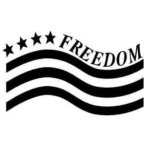 Patriotic Usa Freedom Sticker
