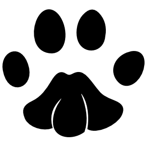 Cute Paw Print Sticker