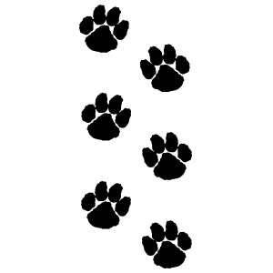 Large Animal Paw Prints Sticker