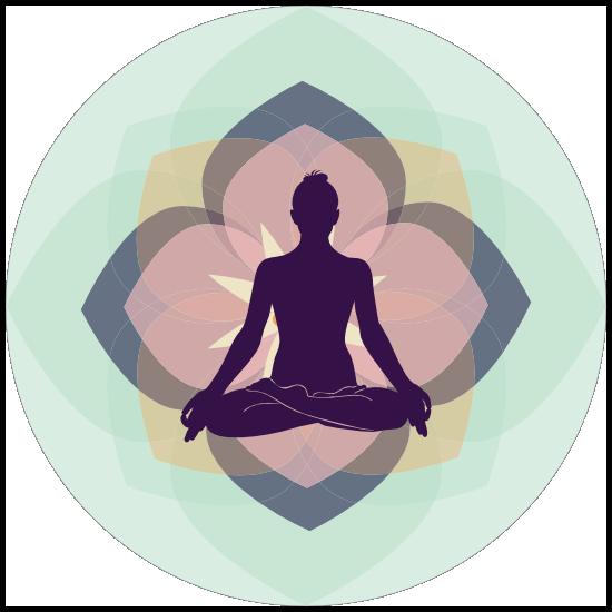 Peaceful Yoga Circle Sticker
