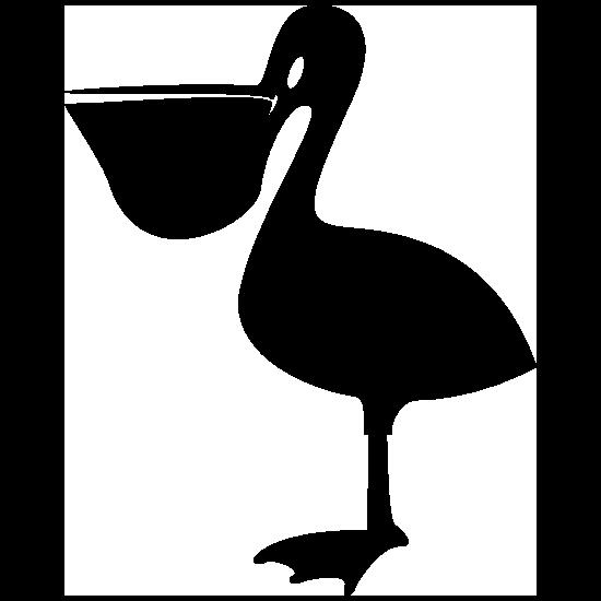 Basic Pelican Bird Sticker