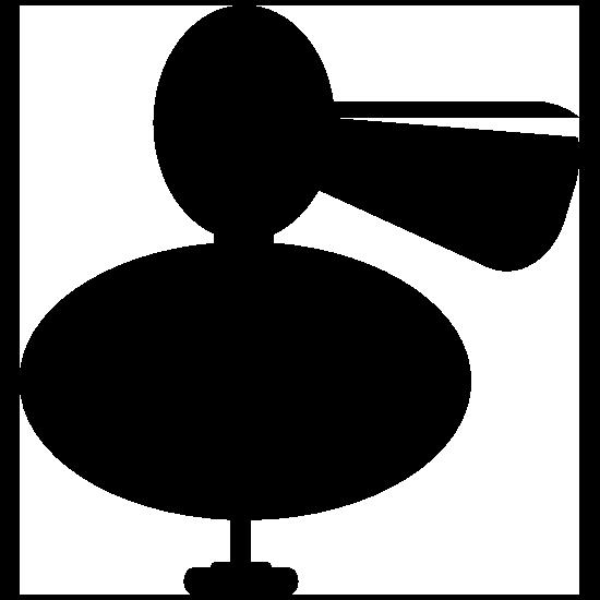 Round Pelican Bird Sticker