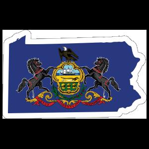 Pennsylvania Flag State Sticker