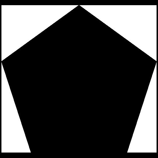 Pentagon Shape Sticker