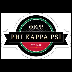 Phi Kappa Psi Ribbon Sticker