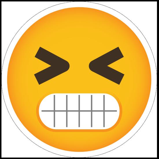 Phone Emoji Sticker Angry Grinding Teeth