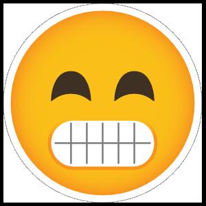 Phone Emoji Sticker Big Grin