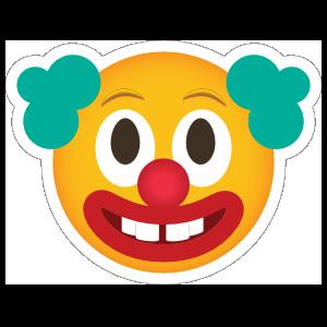Phone Emoji Sticker Clown