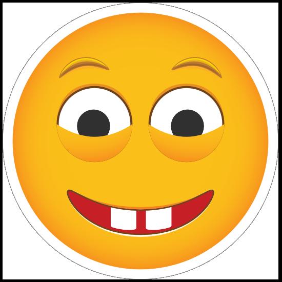 Phone Emoji Sticker Creepy Stare