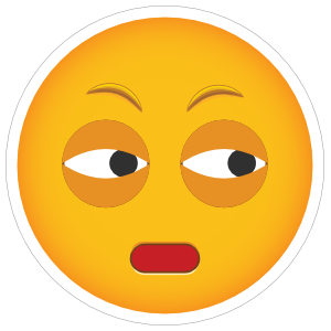 Phone Emoji Sticker Distrust