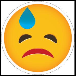 Phone Emoji Sticker Embarrassed