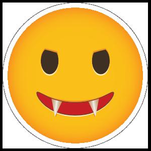 Phone Emoji Sticker Evil Fangs