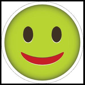 Phone Emoji Sticker Fairly Happy
