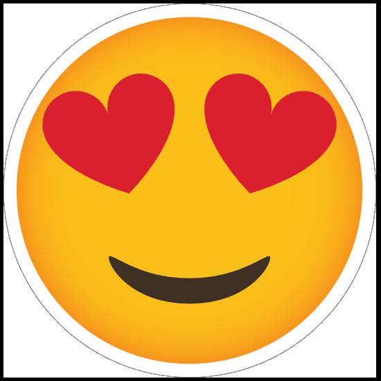 Phone Emoji Sticker Heart Eyes Happy