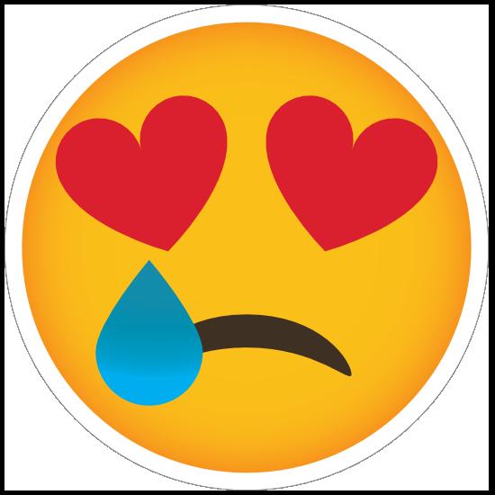 Phone Emoji Sticker Heart Eyes Heartbroken
