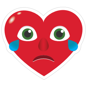 Phone Emoji Sticker Heart Face Crying