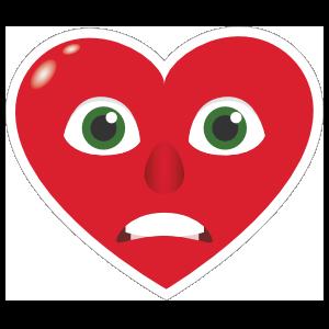 Phone Emoji Sticker Heart Face Grimacing