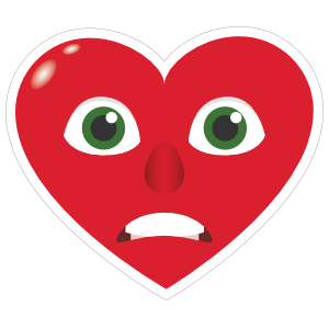 Phone Emoji Sticker Heart Face Grimmacing
