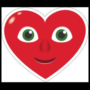 Phone Emoji Sticker Heart Face Happy