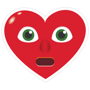 Phone Emoji Sticker Heart Face In Shock