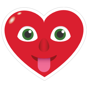 Phone Emoji Sticker Heart Face Tongue Stuck Out