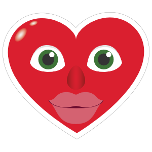 Phone Emoji Sticker Heart Face with Big Lips