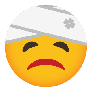 Phone Emoji Sticker Injured
