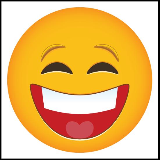 Phone Emoji Sticker Laughing Hard