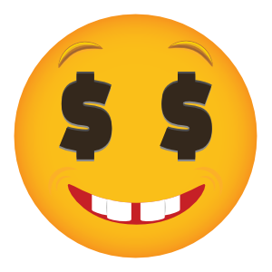 Phone Emoji Sticker Money Eyes Smiling
