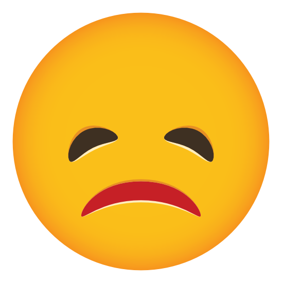 Phone Emoji Sticker Pouting