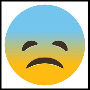 Phone Emoji Sticker Sad