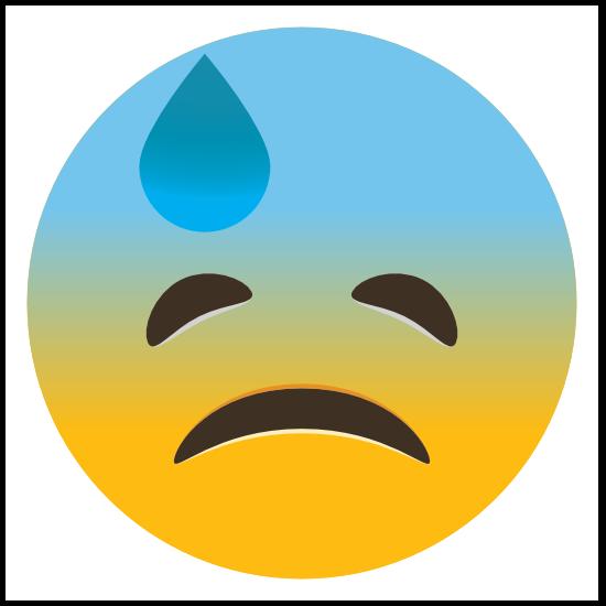 Phone Emoji Sticker Sad Embarrassed