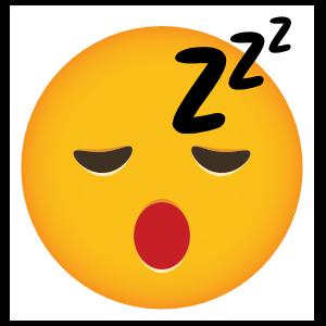 Phone Emoji Sticker Sleepy