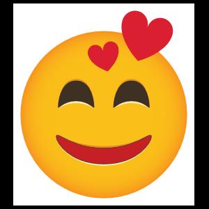 Phone Emoji Sticker Smitten