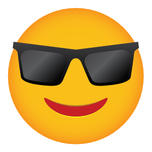 Phone Emoji Sticker Sunglasses